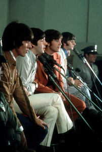The Beatles (George Harrison, Paul McCartney, John Lennon, Ringo Starr) at Capitol Records in Hollywood, CA 1966 © 1978 Bruce McBroom - Image 7685_0154