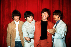 The Beatles (George Harrison, Paul McCartney, John Lennon, Ringo Starr) at Capitol Records in Hollywood, CA 1966 © 1978 Bruce McBroom - Image 7685_0155