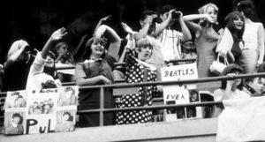 Beatles Fans enjoying the concert at Shea Stadium, Aug. 15, 1965 © 1978 George E. Joseph - Image 7685_0167