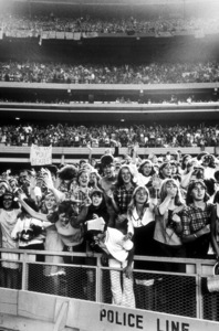 Beatles Fans enjoying concert at Shea Stadium, August 15, 1965 © 1978 George E. Joseph / MPTV  - Image 7685_0171