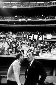 Producer Robert Precht and Ed Sullivan at Shea Stadium for a Beatles concertAugust 15, 1965 © 1978 George E. Joseph  - Image 7685_0176