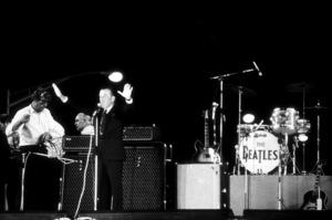 Beatles introduced by Ed Sullivanat Shea Stadium, August 15, 1965 © 1978 George E. Joseph / MPTV - Image 7685_0184