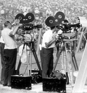 Beatles (Camera crew filming performanceat Shea Stadium), August 15, 1965 © 1978 George E. Joseph / MPTV  - Image 7685_0189