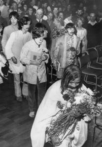 The BeatlesPaul McCartney, George Harrison, John Lennon, Ringo Starr and Maharishi Mahesh Yogi 8/28/1967 - Image 7685_0218