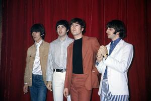 The Beatles (George Harrison, Paul McCartney, John Lennon, Ringo Starr) at Capitol Records in Hollywood, CA1966 © 1978 Bruce McBroom - Image 7685_0237