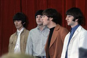 The Beatles (George Harrison, Paul McCartney, John Lennon, Ringo Starr) at Capitol Records in Hollywood, CA1966 © 1978 Bruce McBroom - Image 7685_0238