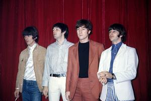 The Beatles (George Harrison, Paul McCartney, John Lennon, Ringo Starr) at Capitol Records in Hollywood, CA1966 © 1978 Bruce McBroom - Image 7685_0239