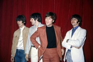 The Beatles (George Harrison, Paul McCartney, John Lennon, Ringo Starr) at Capitol Records in Hollywood, CA1966 © 1978 Bruce McBroom - Image 7685_0240
