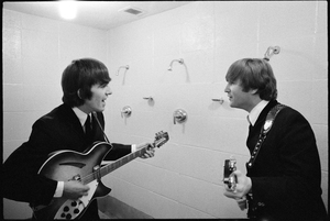 George Harrison and John Lennon of the Beatles1964 © 1978 Gunther - Image 7685_0251