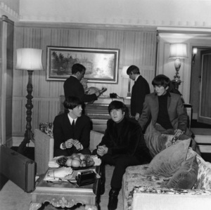 The BeatlesPaul McCartney, John Lennon, George Harrison, Ringo Starr (in background)circa 1964** I.V. - Image 7685_0311