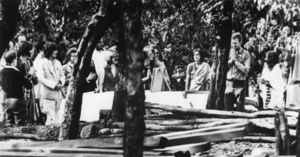 John Lennon and George Harrison of The Beatles visiting Maharishi Mahesh Yogi in northern IndiaFebruary 1968UPI Photo - Image 7685_0317