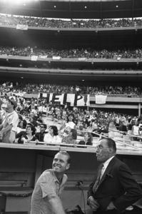 Producer Robert Precht and Ed Sullivan at Shea Stadium for a Beatles concert August 15, 1965 © 1978 George E. Joseph - Image 7685_0318