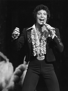 "Tom Jones performing in the hour-long entertainment special, ""Shirley MacLaine at the Lido1979** H.L. - Image 7705_0039"