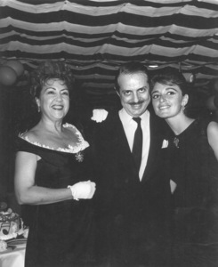 "Ethel Merman with David Merrick andAnna Marie Alberghetti for ""Carnival"" opening, c. 1960.  Photo by Joe Shere - Image 7802_0004"