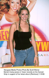 Mariah Carey at Tower Recordson Sunset Strip to promote her newalbum Rainbow.  11/5/99. © 1999 Scott Weiner - Image 7830_0102