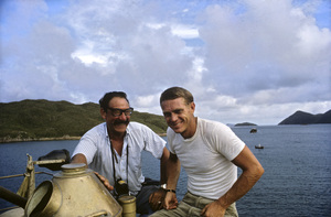"""Photographer Ted Allan with Steve McQueen on location for """"The Sand Pebbles""""1966 © 1978 Ted Allan - Image 7845_0014"""