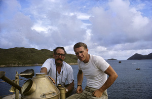 """Photographer Ted Allan with Steve McQueen on location for """"The Sand Pebbles""""1966 © 1978 Ted Allan - Image 7845_0017"""