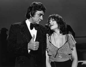 "Johnny Cash and his daughter, Rosanne Cash on ""Johnny Cash: Spring Fever""1978** I.V.M. - Image 7857_0037"