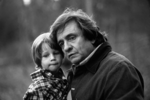 Johnny Cash at home in Hendersonville, Tennessee with his grandson, Josh Cash Gatlin1980© 1980 Ron Sherman - Image 7857_0051