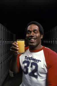 O.J. Simpson orange juice ad for TreeSweet1978 © 1978 Sid Avery - Image 7885_0008