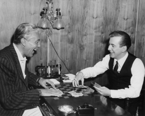 """Cesar Romero and Bobby Darin in """"If a Man Answers""""1962 Universal** I.V. / M.T. - Image 7906_0036"""