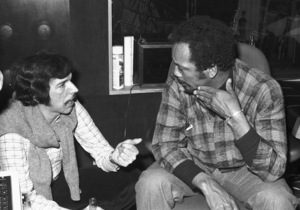 Quincy Jones and Rod Temperton at a Los Angeles recording studio1980© 1980 Bobby Holland - Image 7920_0030