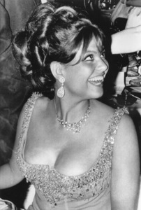Claudia Cardinale at the banquet that followed presentations of the 23rd annual Golden Globe awards / Hollywood, CA1966 - Image 7921_0064