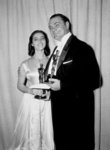 """Academy Awards: 28th Annual,""Marisa Pavan and Ernest Borgnine.1956. - Image 7979_0003"