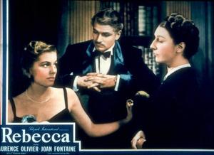 """Rebecca,""Joan Fontaine, Laurence Olivier.Lobby Card1940 UA - Image 8071_0031"