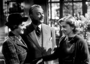 """Rebecca,""Gladys Cooper, Nigel Bruce, andJoan Fontaine. © 1940 UA - Image 8071_0034"