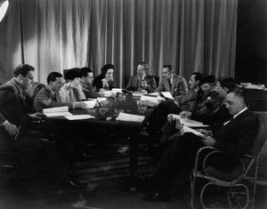 """Romeo and Juliet""L-R: David O. Selznick, Norma Shearer, Leslie Howard, John Barrymore, Basil Rathbone, Irene Mayer Selznick, C. Aubrey Smith (far right)1936 MGMPhoto by Ted Allan - Image 8105_0011"