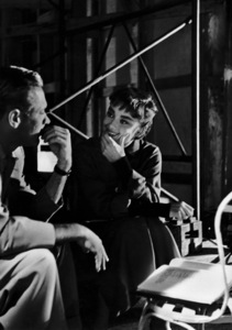 """Audrey Hepburn with William Holden behind the scens of """"Sabrina"""" 1953© 2000 Mark Shaw - Image 8124_0036"""