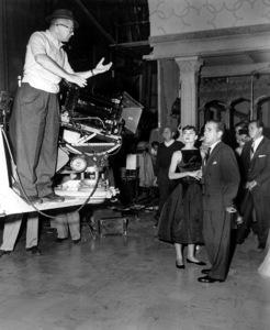 """Sabrina""Humphrey Bogart, director Billy Wilder, Audrey Hepburn1954 Paramount ** I.V. - Image 8124_0063"