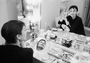 Audrey Hepburn photographed for Mademoiselle in 1954 in her dressing room backstage at Ondine 1954 © 2000 Mark Shaw - Image 8124_0090
