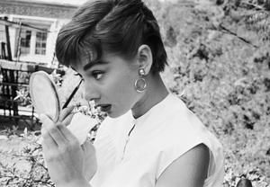 """Audrey Hepburn on the set of """"Sabrina""""1953© 2000 Mark Shaw - Image 8124_0095"""