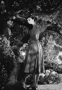 """Audrey Hepburn on the set of """"Sabrina""""1953© 2007 Mark Shaw - Image 8124_0114"""