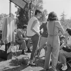 """Audrey Hepburn on the set of """"Sabrina""""1954© 2017 Mark Shaw - Image 8124_0129"""