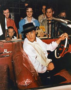 Elvis Presley fleeing autograph houndscirca 1956 - Image 818_46