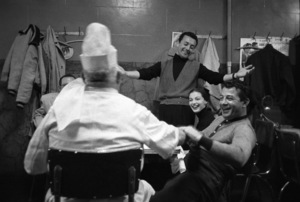 """""""Somebody Up There Likes Me""""Vic Damone, Pier Angeli, Rocky Graziano1956© 1978 Sanford Roth / A.M.P.A.S. - Image 8216_0047"""