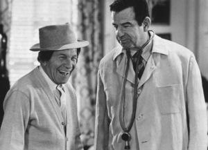"""Sunshine Boys, The""George Burns and Walter Matthau1975 MGM © 1978 Mel Traxel - Image 8278_0007"