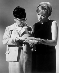 """""""Sweet Charity""""Designer Edith Head confers with Shirley MacLaine1969  - Image 8285_0007"""