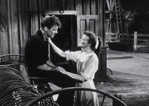 """""""The Rainmaker""""Katharine Hepburn and Burt Lancaster 1956 Paramount © 1978 Bill Avery - Image 8293_0002"""