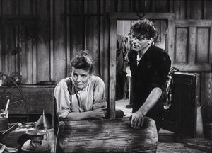 """""""The Rainmaker""""Katharine Hepburn and Burt Lancaster 1956 Paramount © 1978 Bill Avery - Image 8293_0003"""