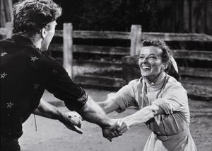 """""""The Rainmaker""""Katharine Hepburn and Burt Lancaster 1956 Paramount © 1978 Bill Avery - Image 8293_0007"""