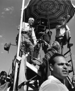 Cecil B. DeMille, cameraman John Fulton, Charlton HestonFilm SetTen Commandments, The (1956) © 1978 Ken Whitmore0049833Paramount - Image 8340_0042