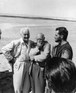 W.M. Boyd, Cecil B. DeMille, Charlton HestonFilm SetTen Commandments, The (1956) © 1978 Ken Whitmore0049833Paramount - Image 8340_0054