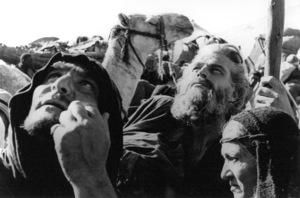 Henry Wilcoxon, Charlton  HestonFilm SetTen Commandments, The (1956) © 1978 Ken Whitmore0049833Paramount - Image 8340_0055