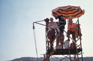 """""""Ten Commandments""""Director Cecil B. DeMille on location on Egypt1956 Paramount © 1978 Ken Whitmore - Image 8340_0073"""