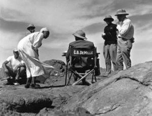 Director Cecil B. DeMilleFilm SetTen Commandments, The (1956) © 1978 Ken Whitmore0049833Paramount - Image 8340_0077