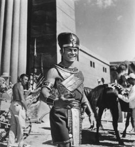 """The Ten Commandments""Yul Brynner1956 Paramount © 1978 Ken Whitmore - Image 8340_0080"